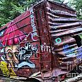 Cheakamus Box Car Graffiti by Adam Jewell