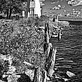 Cheboygan Lighthouse Bw by Timothy Hacker