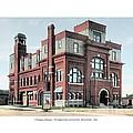 Cheboygan Michigan - Opera House And City Hall - Huron Street - 1905 by John Madison