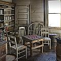 Checker Game Setting In A Back Room No. 3105 by Randall Nyhof
