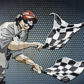 Checkered Flag Grunge Color by Frank Ramspott