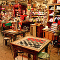 Checkers At Jefferson General Store by Kathy  White