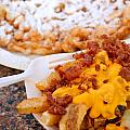 Cheesy Bacon Fries And Funnel Cake by Amy Cicconi