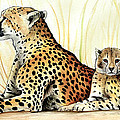 Cheetah And Cub by Rory Viale