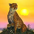 Cheetah And Cubs by MGL Studio - Chris Hiett
