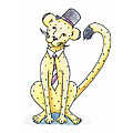 Cheetah In A Top Hat by Christy Beckwith