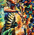 Chelo Player by Leonid Afremov