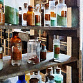 Chemistry - Bottles Of Chemicals by Susan Savad