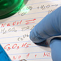Chemistry Formulas In Science Research Lab by Science Research Lab By Olivier Le Queinec