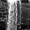 Cherokee Falls In Monochrome by Tara Potts