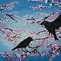 Cherry Blossom Birds by Cathy Jacobs