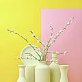 Cherry Blossom Popcorn In Monochromatic by Juj Winn