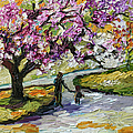 Cherry Blossom Tree Walk In The Park by Ginette Callaway