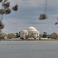 Cherry Blossoms With Jefferson Memorial - Washington Dc - 011318 by DC Photographer