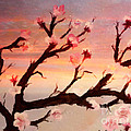 Cherry Tree Expresssive Brushstrokes by Barbara Griffin