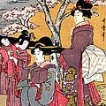 Cherry-viewing At Gotenyama by William Braddock