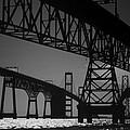 Chesapeake Bay Bridge At Annapolis by Skip Willits