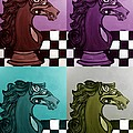 Chess Pop Art by Stephanie Dunn