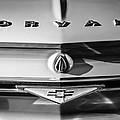 Chevrolet Corvair Emblem -0082bw by Jill Reger