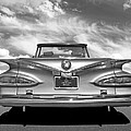 Chevrolet Impala 1959 In Black And White by Gill Billington
