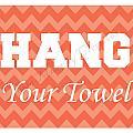 Chevron Hang Your Towel by Tessa Murphy
