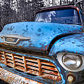 Chevy In The Woods by Debra and Dave Vanderlaan