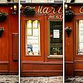 Chez Marie Triptych by Georgia Fowler