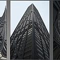 Chicago Abstract Before And After John Hancock Sw Facades Triptych 3 Panel by Thomas Woolworth