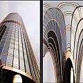 Chicago Abstract Before And After Sunrays On Trump Tower 2 Panel by Thomas Woolworth