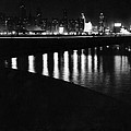Chicago At Night by Underwood Archives