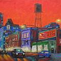 Chicago Avenue Looking West by J Loren Reedy