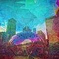 Chicago Bean Skyline Illinois Digital Paint by David Haskett II