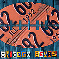 Chicago Bears Football Recycled License Plate Art by Design Turnpike