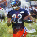 Chicago Bears Rb Matt Forte Training Camp 2014 Photo Art 02 by Thomas Woolworth