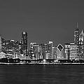 Chicago Black And White Evening by Donald Schwartz