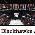 Chicago Blackhawks At Home Panorama White by Thomas Woolworth