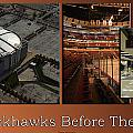 Chicago Blackhawks Before The Gates Open Interior 2 Panel Tan 01 by Thomas Woolworth
