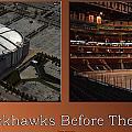 Chicago Blackhawks Before The Gates Open Interior 2 Panel Tan by Thomas Woolworth