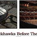 Chicago Blackhawks Before The Gates Open Interior 2 Panel White 01 by Thomas Woolworth