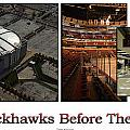 Chicago Blackhawks Before The Gates Open Interior 2 Panel White 02 by Thomas Woolworth