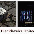 Chicago Blackhawks United Center 2 Panel White Signage by Thomas Woolworth