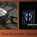 Chicago Blackhawks United Center Signage 2 Panel Tan by Thomas Woolworth