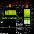 Chicago Brick Facade Glow by Ellen Cannon