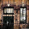 Chicago Brick Facade Grunge by Ellen Cannon