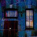 Chicago Brick Facade Night Moves by Ellen Cannon
