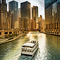 Chicago Cityscape And River by Pgiam