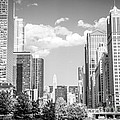 Chicago Cityscape Black And White Picture by Paul Velgos