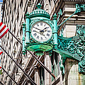 Chicago Clock On Macy's Marshall Field's Building by Paul Velgos