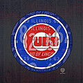 Chicago Cubs Baseball Team Retro Vintage Logo License Plate Art by Design Turnpike