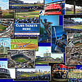 Chicago Cubs Collage by Thomas Woolworth